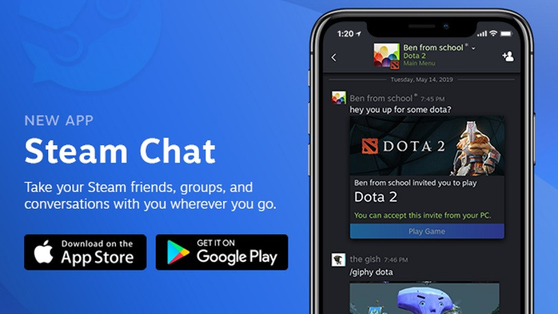 Steam Chat for iOS and Android